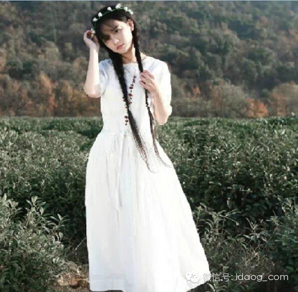 森系女秋装 复古文艺范 连衣裙 衬衫
