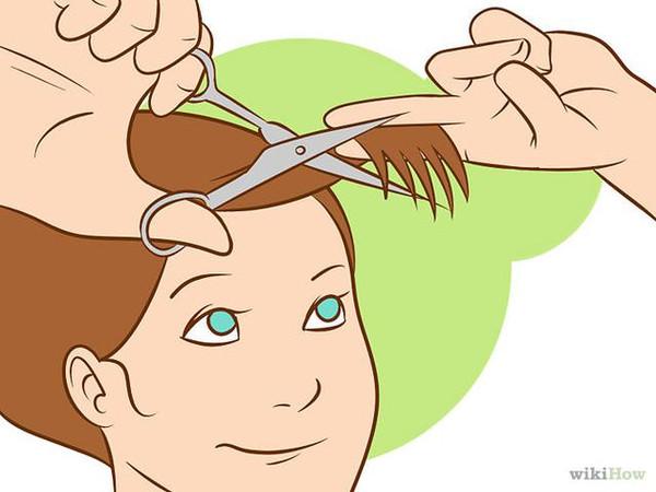 头发长了自己这样修剪头发就行,再也不用去理
