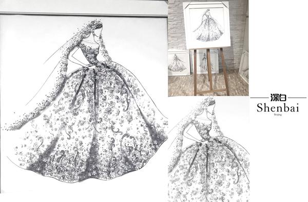 春装连衣裙手绘图