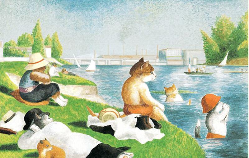世界经典名画_艺术家赫伯特出版新作品,以猫为主角再现世界经典名画,比如《蒙娜丽莎