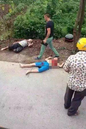 案发觉场,张某和儿子被凶手杀戮。图像来自收集