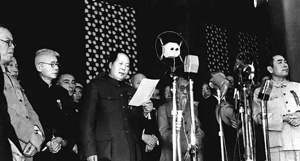 1949年开国大典上的阅兵仪式