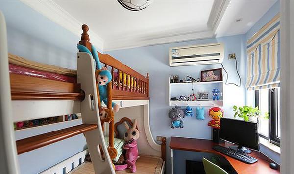 儿童房用了上下床的设计,孩子平常喜欢住哪里都可以,有客人的时候还图片