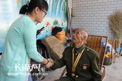 寻找河北抗战老兵活动为抗战老兵送温暖(图
