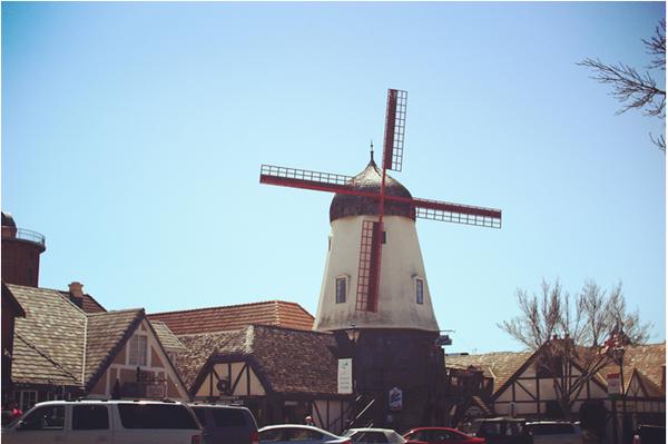 标志性的丹麦风车.图片