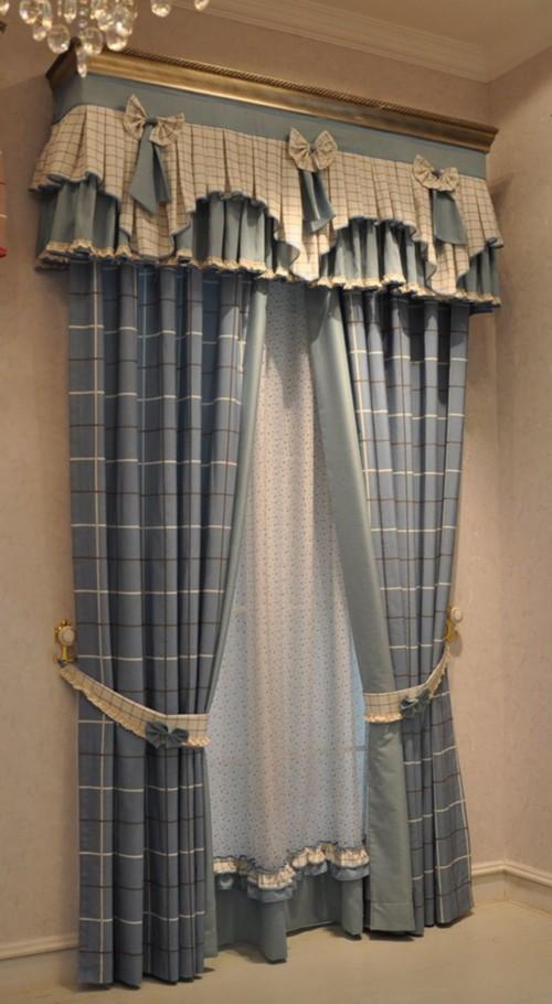 恬静中的优雅姿态 9款唯美蓝色系窗帘(组图)图片