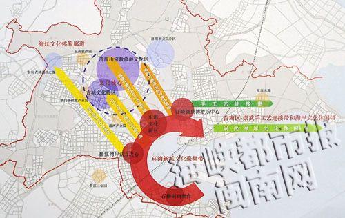 泉州手绘地图 洛阳桥