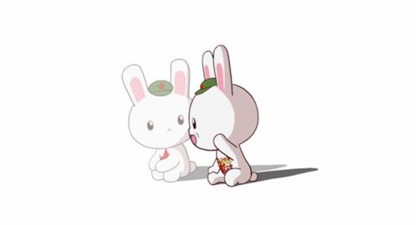 这种双重的拟人化还让同一形象的兔子得以在《那兔》的不同段落扮演两