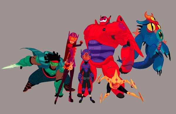 《超能陆战队》概念设计图 本次展览围绕迪士尼故事创作和人类社会