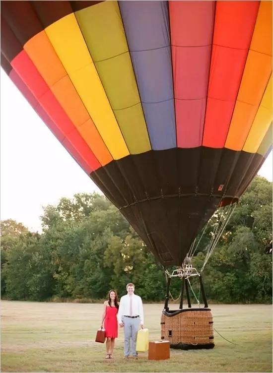 热气球的婚礼创意图片