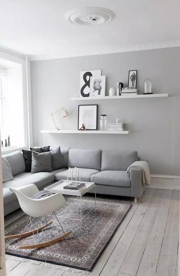 2 收納背景墻 沙發背景墻加上隔板或者柜子,瞬間增加了收納功能,不僅圖片