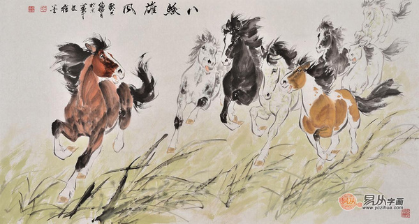 现代擅长画马的画家作品展示