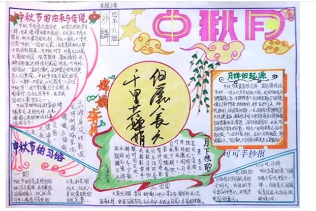 手抄报中秋节图片大全中秋节的来历中秋节画中秋节的习俗中秋节月饼