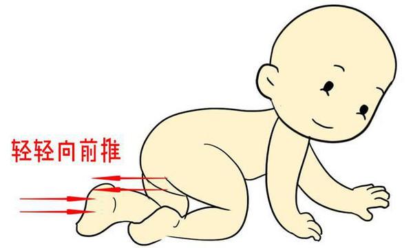 婴儿爬行简笔画