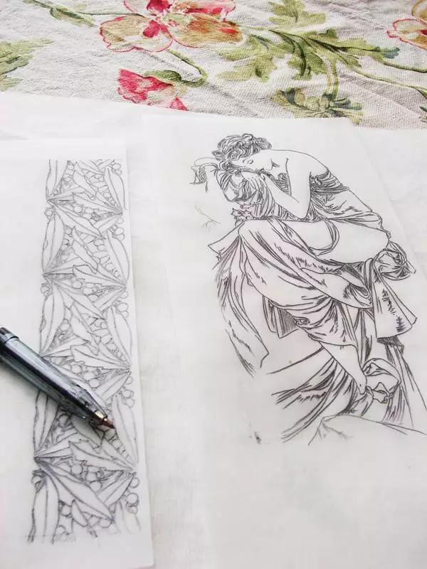 手绘木纹线条练习