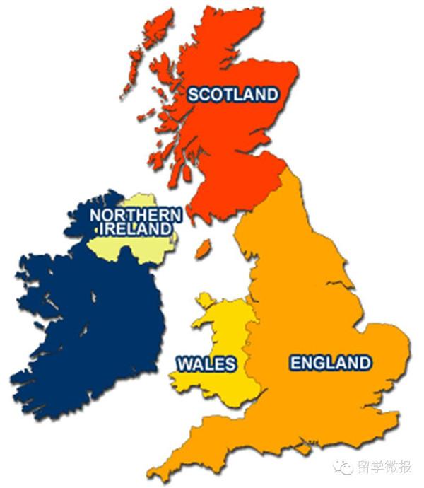 英国卡通地图手绘