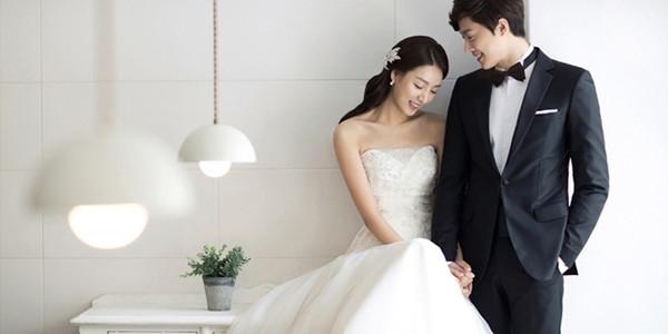 韩式婚纱照造型 诠释温柔恬静之美图片