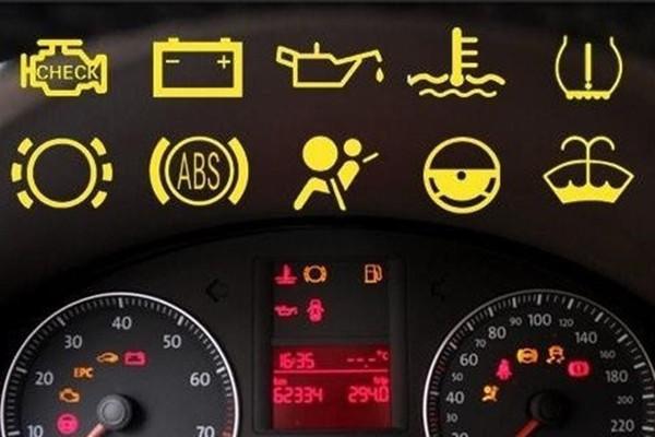 汽车仪表盘指示灯图解高清图片