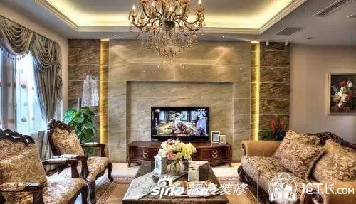时尚 正文     小客厅电视背景墙效果图 欧式小客厅电视背景墙效果图