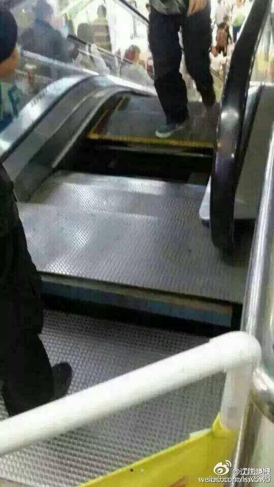 沈阳扶梯再陷落