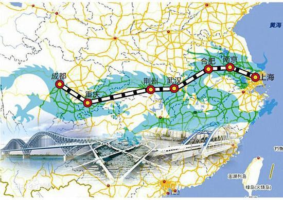 资料图:沪汉蓉铁路示意图
