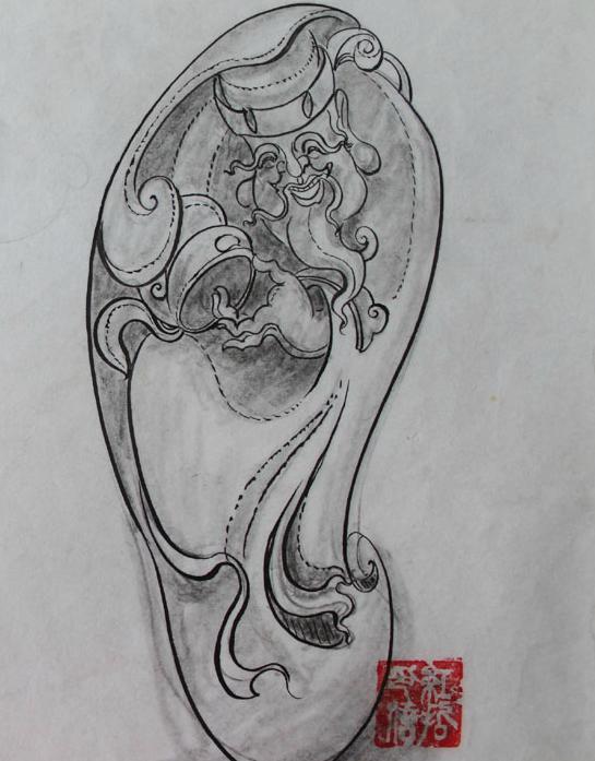 形神兼备 | 玉雕大师设计手稿欣赏!图片