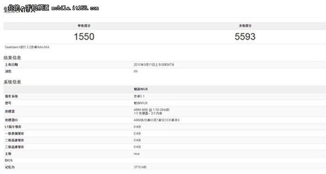 搭载Exynos 7420 疑魅族Pro 5跑分曝光