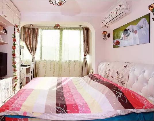 居家10款暖色调,卧室装潢设计茶盘!长方形木方案设计图图片