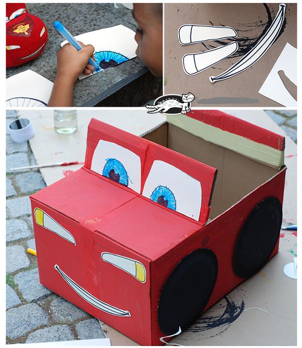 纸板汽车模型制作图解