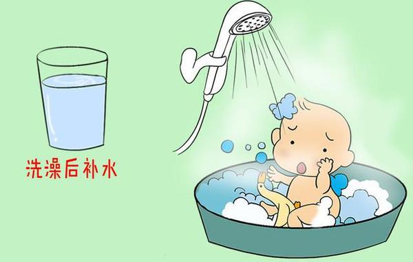 小孩子喝水卡通