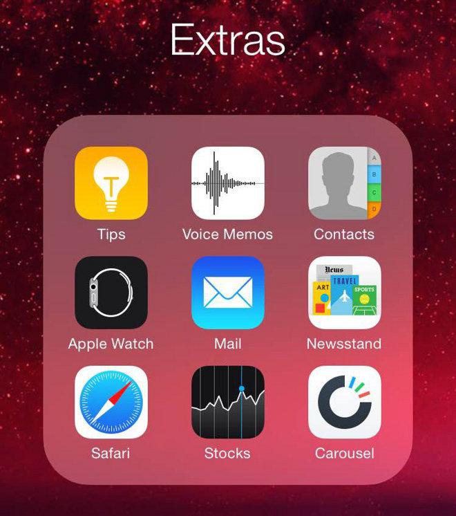 iOS 同意将额定运用放到一个文件夹中