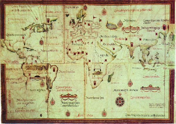 图2,罗伯·欧蒙,平面球形图,1554年,羊皮纸小画卷, <a href=