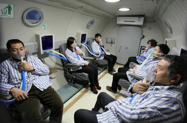 高压氧治疗是在超过一个大气压的环境中呼吸纯氧气图片