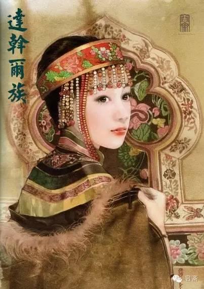 茶话 手绘版 五十六个民族 超美