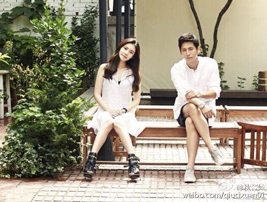 韩星秋瓷炫公布恋情 故事的发展应该是有这样的