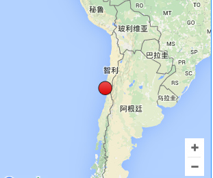智利中部沿海发生6.1级地震 震源深度10公里