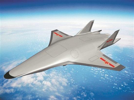 网友制作的中国高超音速飞行器效果图。