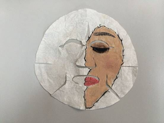 创尔美创意手绘面膜大赛:一张有思想的面膜