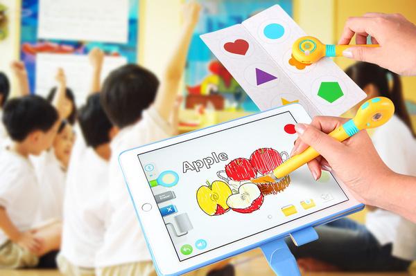 儿童画画平板萌奇笔早教学颜色