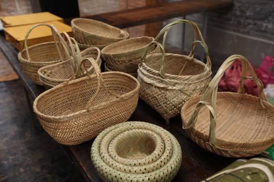 昆山民俗手工艺品展出-竹艺品