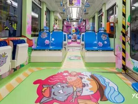 广州儿童列车3.0,华丽变身喜羊羊