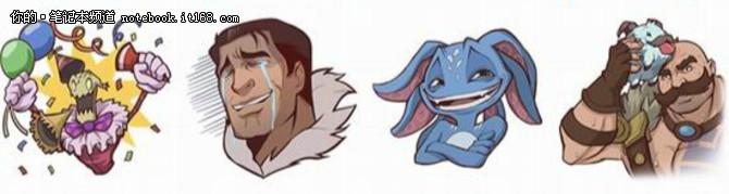 lol官方推出逗比英雄表情 可做表情包图片