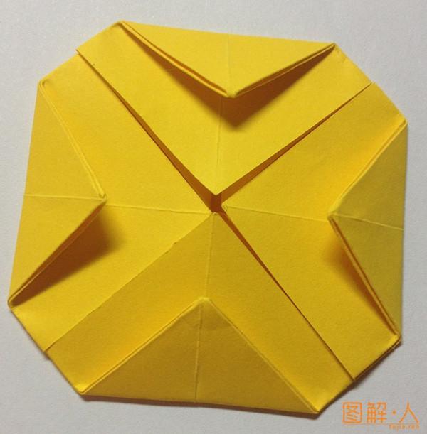 方形玫瑰花折纸图解教程