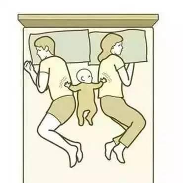 挠痒痒简笔画-一家三口同床睡觉,其中幸福与腰酸背痛,只有你懂