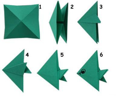 海底世界折纸步骤