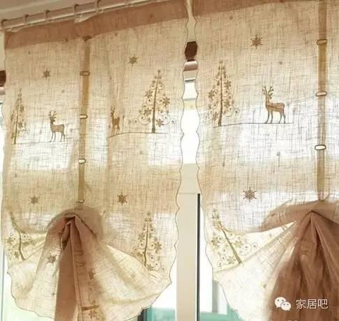 欧式刺绣小麋鹿气球帘图片