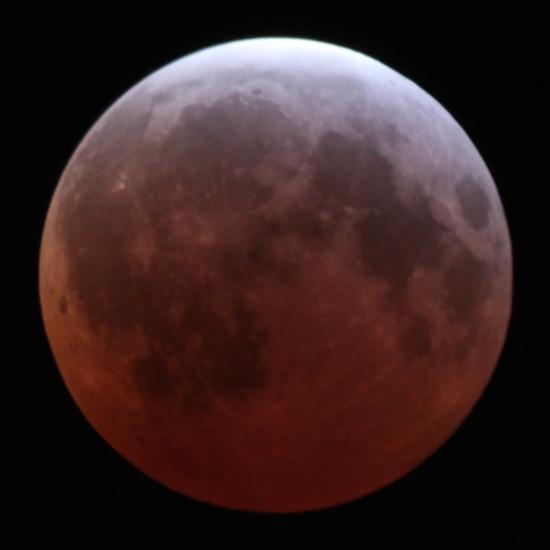 虽然照向月亮的太阳光被地球挡住