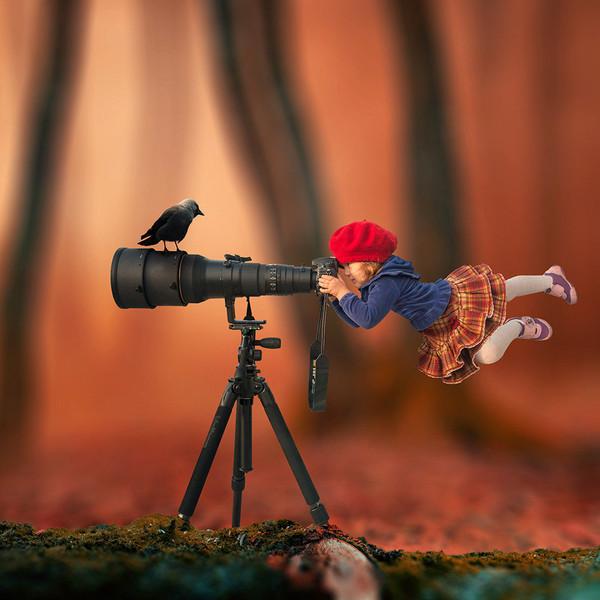 史上最有创意摄影师 这样给女儿拍照片