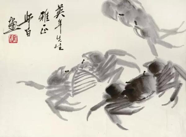 秋风起,看看大师们画的螃蟹