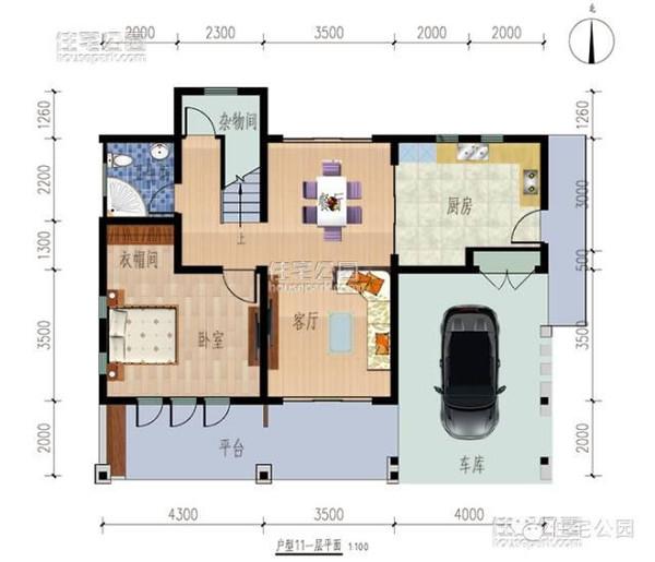 新农村2层自建房 12米X10米 ,户型图纸预算工期图片
